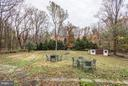Back yard with private wooded views - 8110 GEORGETOWN PIKE, MCLEAN
