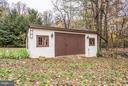Garden shed was originally a stable. - 8110 GEORGETOWN PIKE, MCLEAN