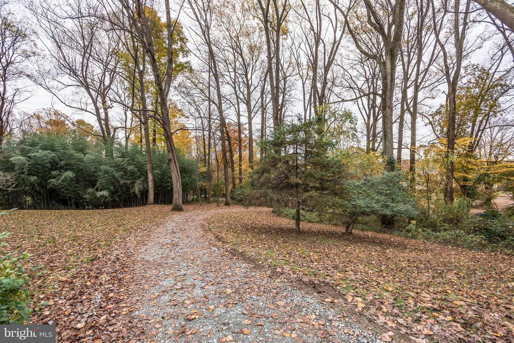 Long driveway approach makes a prominent statement - 8110 GEORGETOWN PIKE, MCLEAN