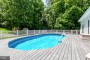 Sunken Swimming Pool w/ Composite Decking - 16808 OAK HILL RD, SILVER SPRING
