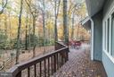 Wrap-around deck with private woodland views - 11903 TRIPLE CROWN RD, RESTON
