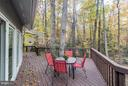 Newly refinished deck for outdoor enjoyment - 11903 TRIPLE CROWN RD, RESTON