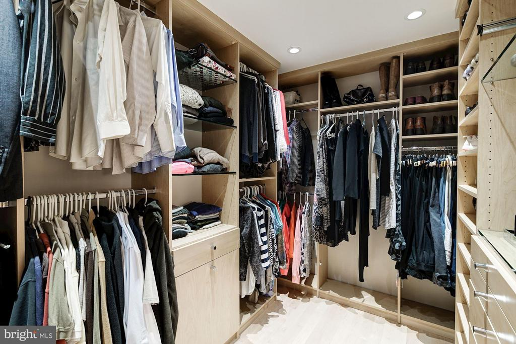 Master Suite closet with built-ins - 11903 TRIPLE CROWN RD, RESTON