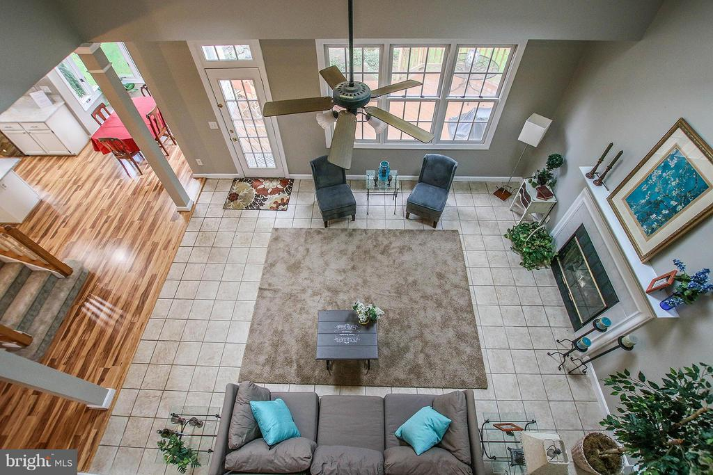 View from loft above - 43956 BRUCETON MILLS CIR, ASHBURN