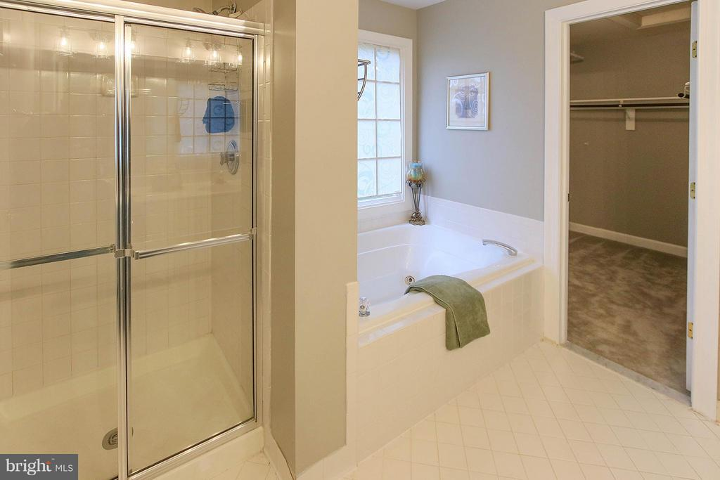 Soaking jetted tub and separate shower - 43956 BRUCETON MILLS CIR, ASHBURN