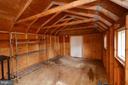 Inside Storage Shed - 1309 BEECH RD, STERLING