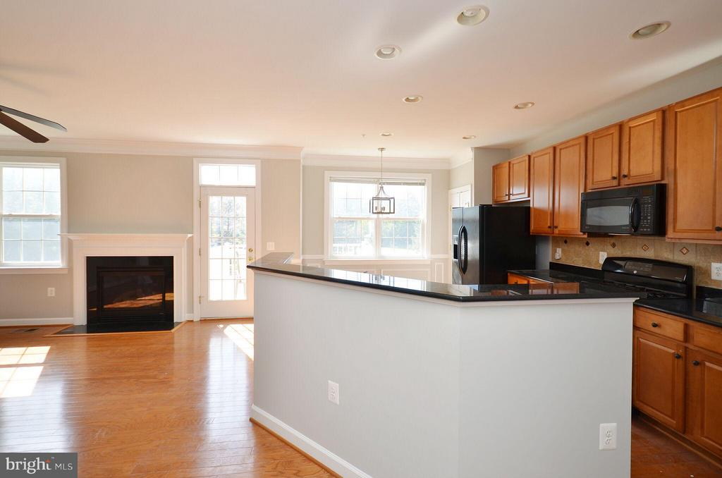 Kitchen with Breakfast Bar - 13685 VENTURI LN #240, HERNDON