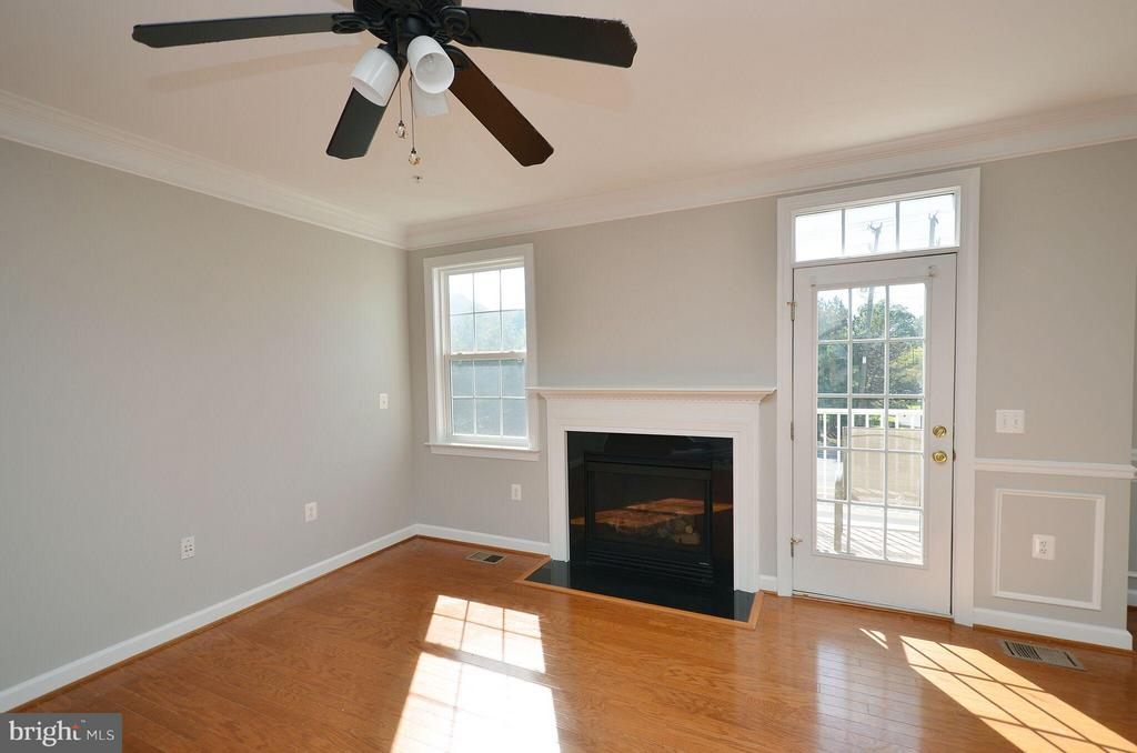 Living Room with Gas Fireplace - 13685 VENTURI LN #240, HERNDON