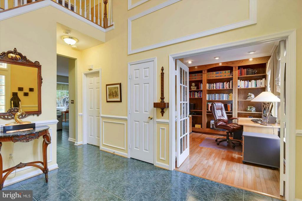 French doors lead to Study - 43154 PARKERS RIDGE DR, LEESBURG