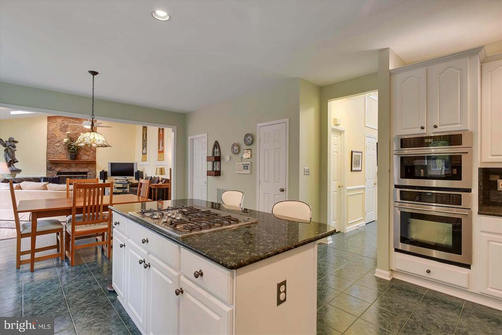 Kitchen opens to Breakfast Room and Family Room - 43154 PARKERS RIDGE DR, LEESBURG