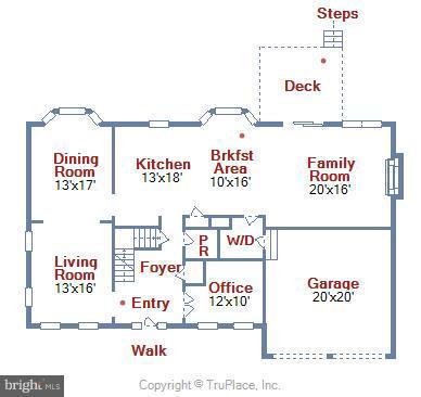Main Level Floorplan - 43154 PARKERS RIDGE DR, LEESBURG