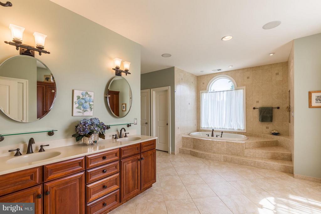 Master bath w/ separate shower and walk-in closet - 14422 LIGHTNER RD, HAYMARKET