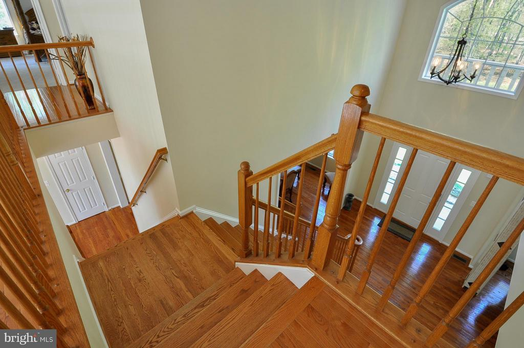 Dual staircase - 11300 HONOR BRIDGE FARM CT, SPOTSYLVANIA