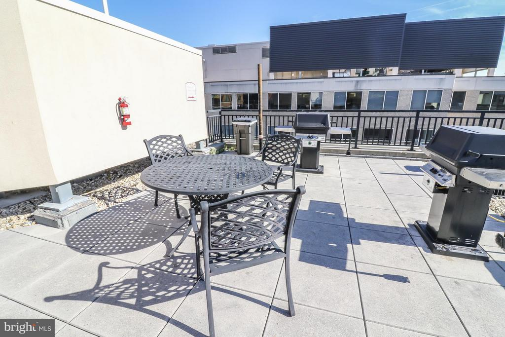 Rooftop deck with grills - 915 E ST NW #306, WASHINGTON