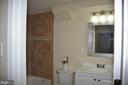 Full bathroom in basement - 7412 BRADDOCK RD, ANNANDALE