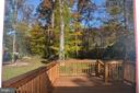 Deck in the back yard - 7412 BRADDOCK RD, ANNANDALE