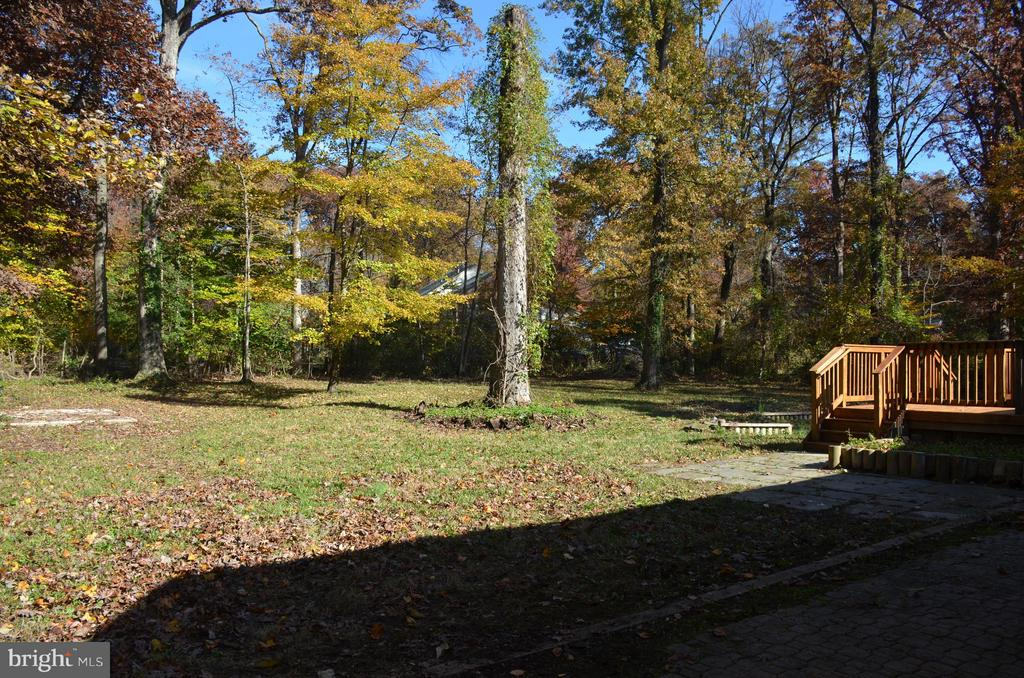 Peaceful view of backyard - 7412 BRADDOCK RD, ANNANDALE
