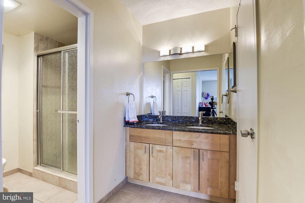 Designer Italkian tile, double sink w granite - 3701 GEORGE MASON DR #1406N, FALLS CHURCH