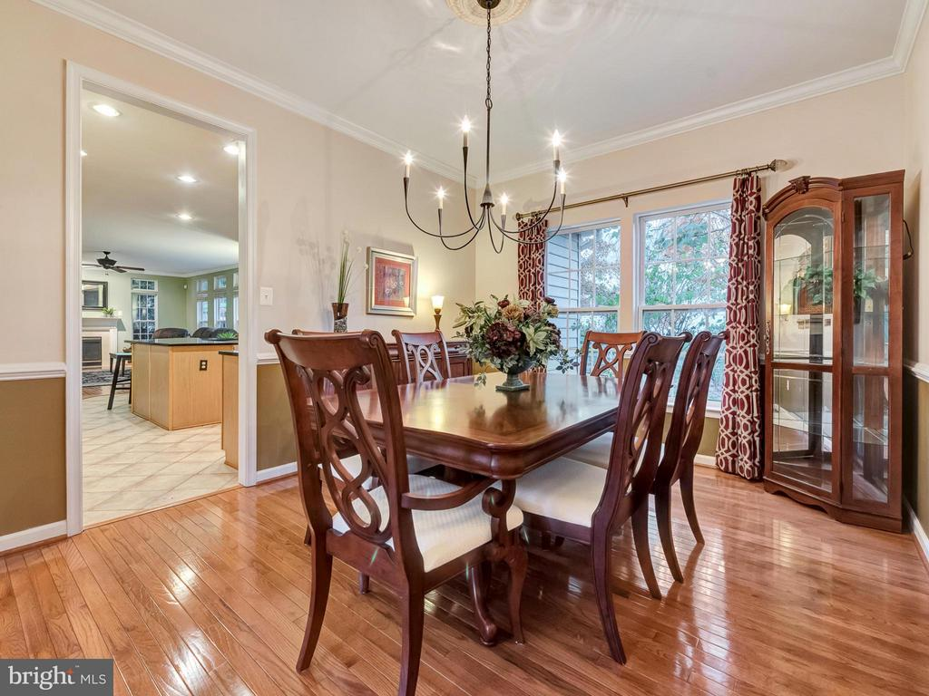 Enjoy the great view of the backyard while dining. - 9038 CLENDENIN WAY, FREDERICK