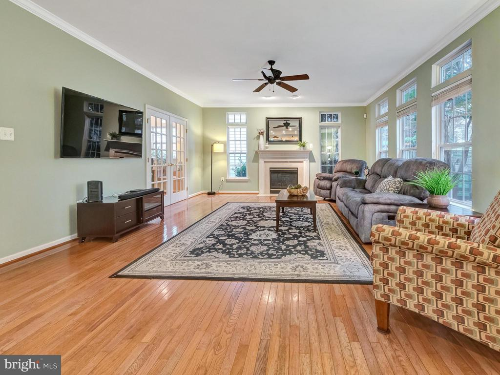 Large family room with fireplace. - 9038 CLENDENIN WAY, FREDERICK
