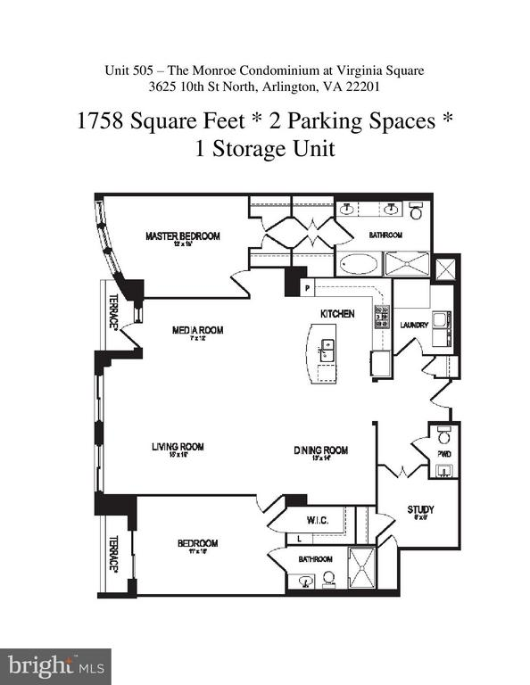 Unit 505 Floor Plans - 3625 10TH ST N #505, ARLINGTON