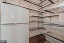 Pantry with refrigerator and movable shelves - 10603 CREAMCUP LN, GREAT FALLS