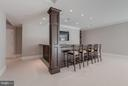 Custom Bar with Leather finish Granite - 10603 CREAMCUP LN, GREAT FALLS