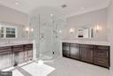 Master Bath with large two person shower - 10603 CREAMCUP LN, GREAT FALLS