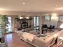 Large Great room with stone fireplace - 11713 WAYNE LN, BUMPASS