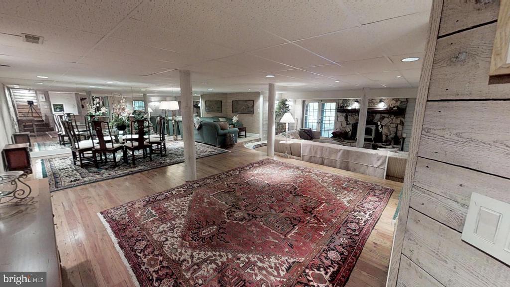 Huge Basement with wood floors and fireplace - 11713 WAYNE LN, BUMPASS
