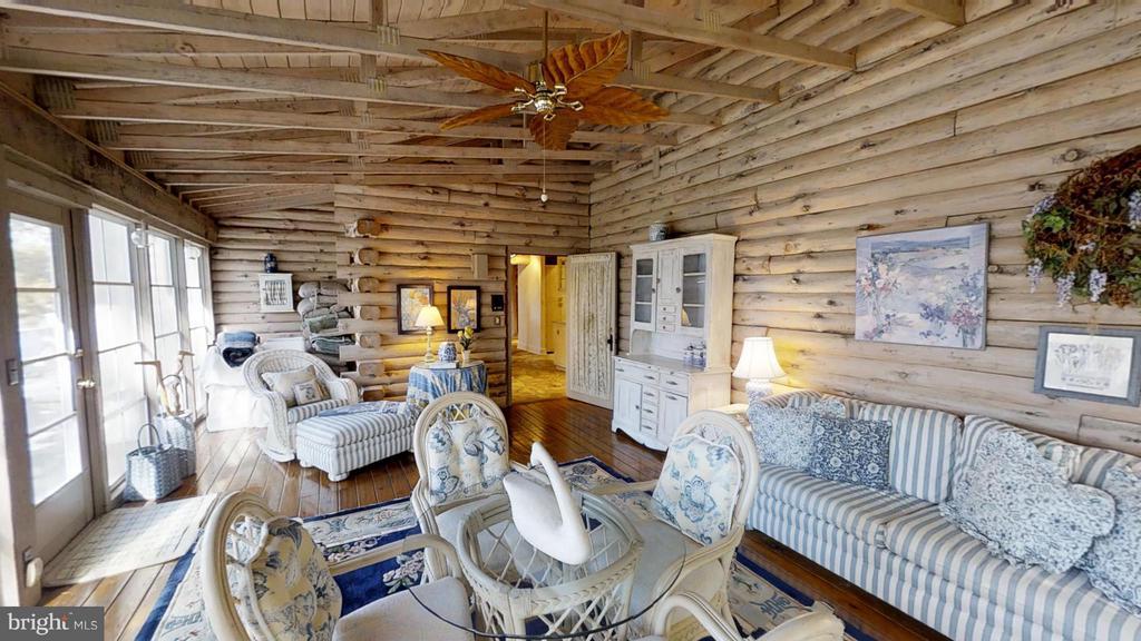 Three season room has hardwood Floors - 11713 WAYNE LN, BUMPASS