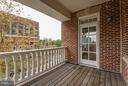 Large Deck - 635 FIRST ST #303, ALEXANDRIA