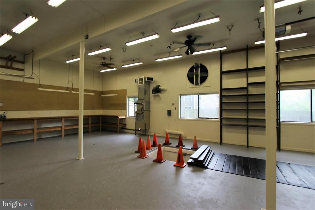 Garage: Steel Shelving to Ceiling ;Work Benches - 1915 ANDERSON RD, FALLS CHURCH