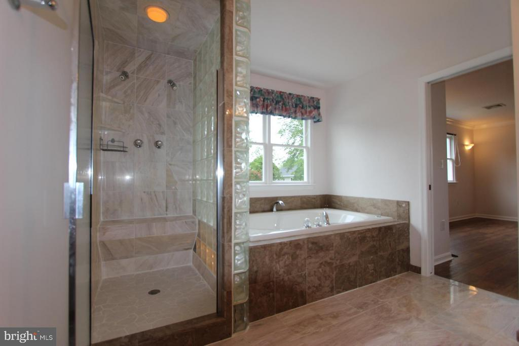 Marble & Glass Walk In Shower - 1915 ANDERSON RD, FALLS CHURCH