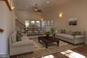 Great Room Virtually Staged - 1915 ANDERSON RD, FALLS CHURCH