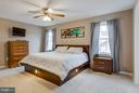 Master bedroom with neutral decor - 4338 CUB RUN RD, CHANTILLY
