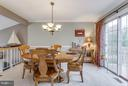 Dining room provides access to deck - 4338 CUB RUN RD, CHANTILLY