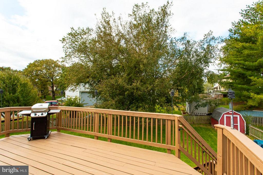 Large deck overlooking mature landscaping - 4338 CUB RUN RD, CHANTILLY