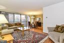 Living Room/Dining Room Combo, Wall-to-Wall Slider - 4420 BRIARWOOD CT N #41, ANNANDALE