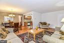 View from Living Room to Dining Room & Kitchen - 4420 BRIARWOOD CT N #41, ANNANDALE