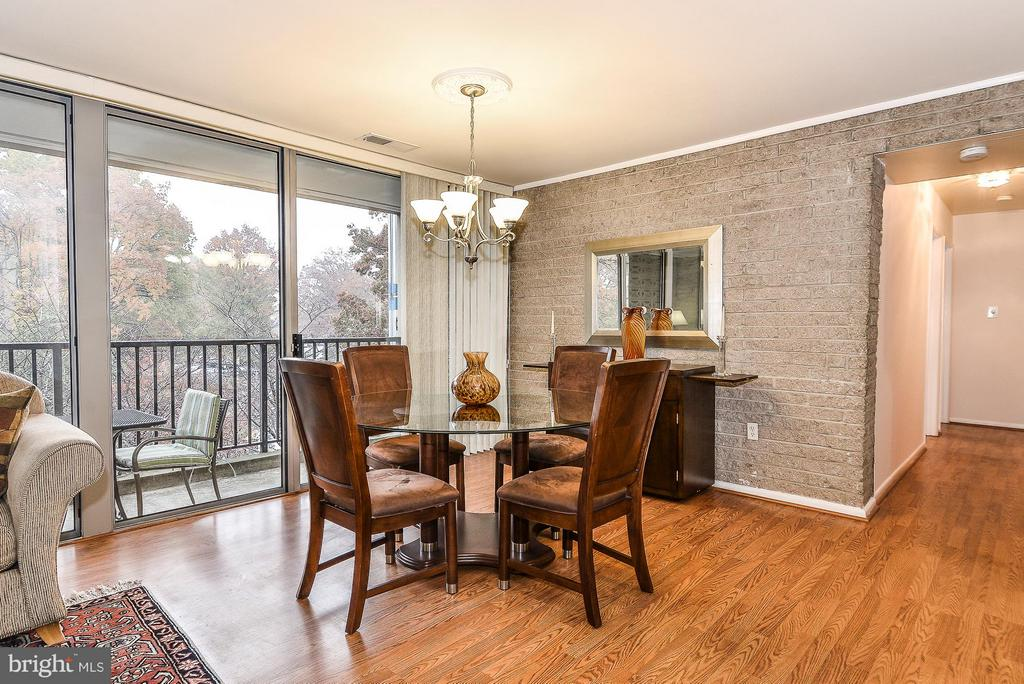 Dining Room with access to Balcony - 4420 BRIARWOOD CT N #41, ANNANDALE