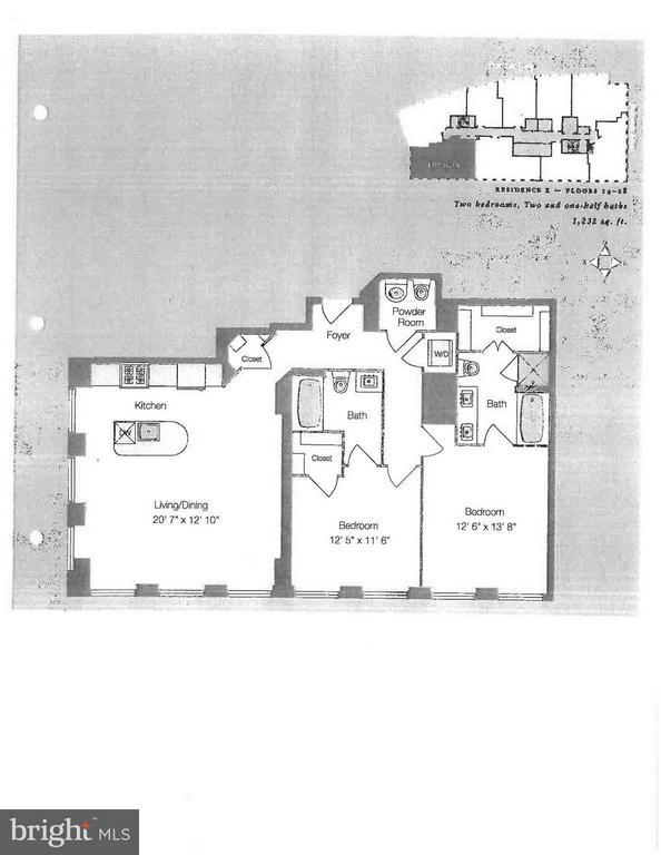 Floor Plans - 1111 19TH ST N #2107, ARLINGTON