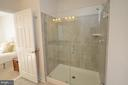 Master Bath w/ Ceramic Tile & walk-in Shower - 19959 MAJOR SQ, ASHBURN