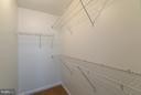 Walk In Closet - 301 KNOLLWOOD CT, STAFFORD