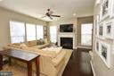 Cozy Family Room with Gas Fireplace - 23382 HIGBEE LN, ASHBURN