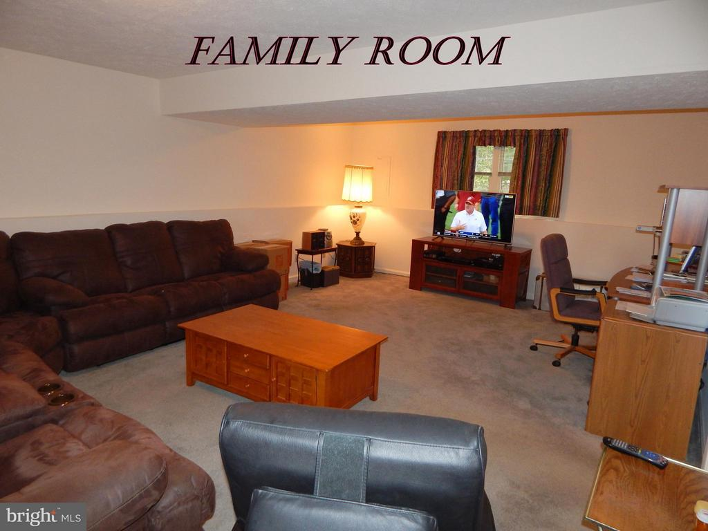 Bsmt FR.  Cool space in the summer!  Sat TV avail. - 11604 BRIAN DR, FREDERICKSBURG