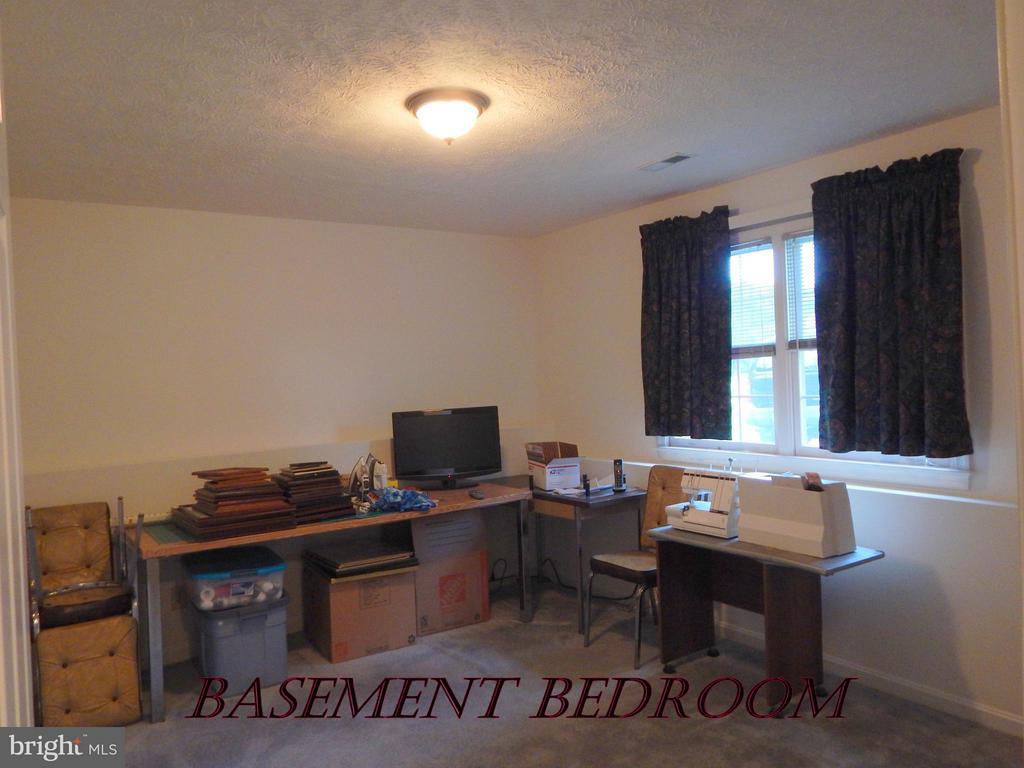 3rd king sized BR in bsmt.  Great hobby rm/office. - 11604 BRIAN DR, FREDERICKSBURG