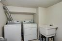 Full laundry room with utility sink - 514 EASTERN AVE NE, WASHINGTON
