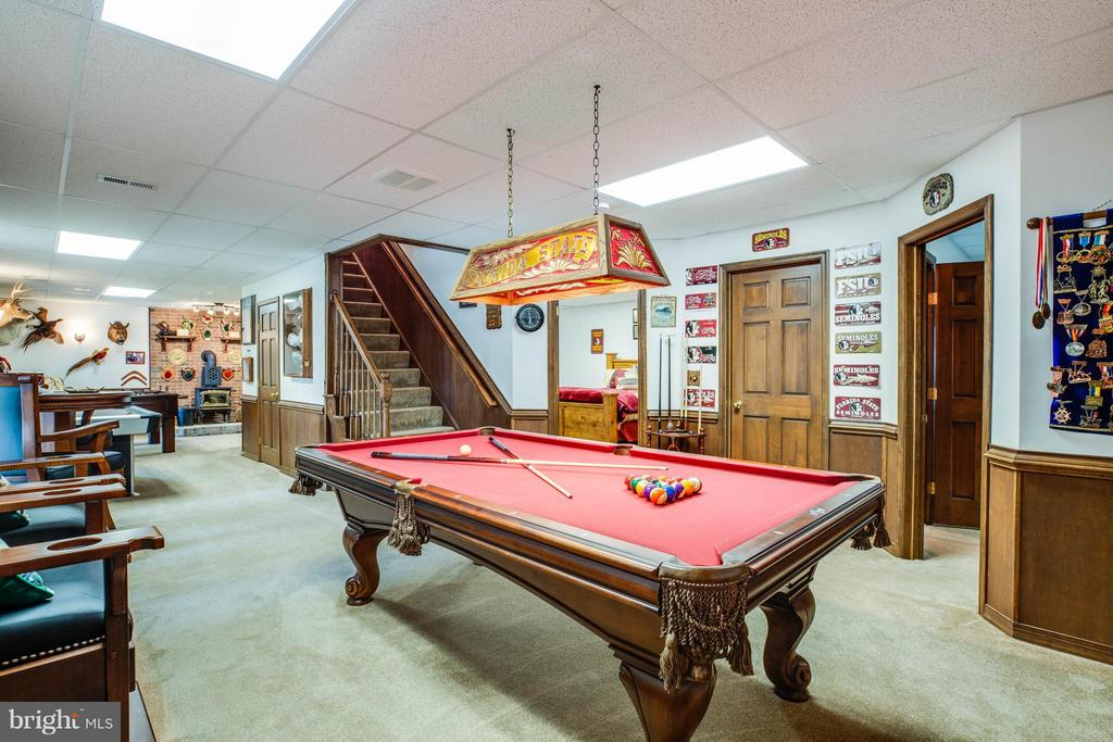 Family Room in Basement - 3725 BREAKNOCK RD, BUMPASS