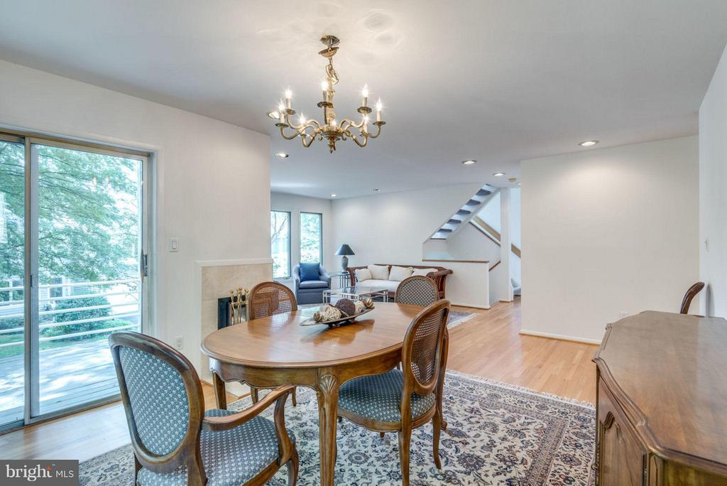 Dining Room opens to family room - 1942 LAKEPORT WAY, RESTON